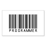 Programmer Barcode Rectangle Sticker 10 pk)