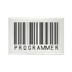 Programmer Barcode Rectangle Magnet (100 pack)