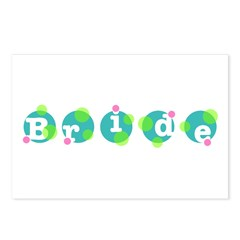 Retro Dots Bride Design Postcards (Package of 8)