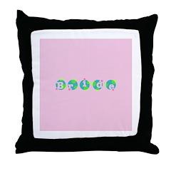 Retro Dots Bride Design Throw Pillow