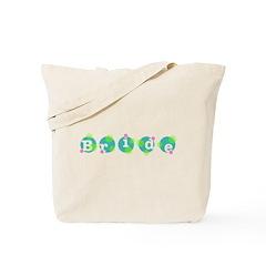 Retro Dots Bride Design Tote Bag
