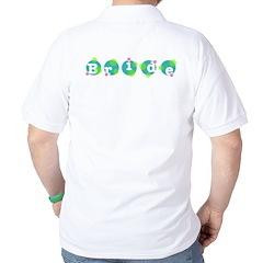 Retro Dots Bride Design Golf Shirt