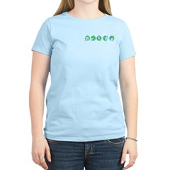 Retro Dots Bride Design Women's Light T-Shirt