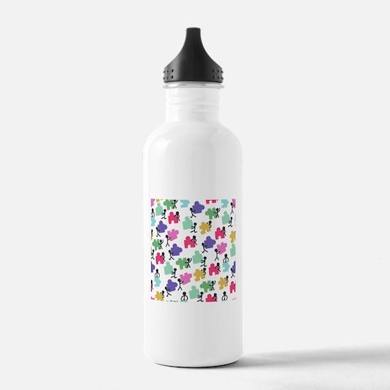 autistic people Water Bottle
