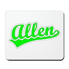 Retro Allen (Green) Mousepad