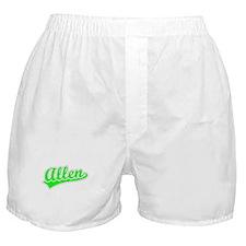 Retro Allen (Green) Boxer Shorts