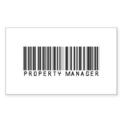 Property Manager Barcode Rectangle Sticker 10 pk)
