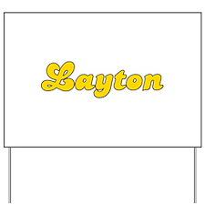 Retro Layton (Gold) Yard Sign