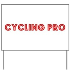Retro Cycling Pro (Red) Yard Sign