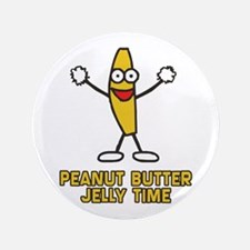 "Peanut Butter Jelly Time 3.5"" Button (100 pack)"