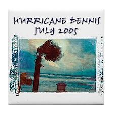 Hurricane Dennis Photo Tile Coaster