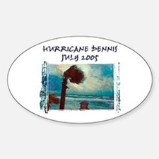 Hurricane Dennis Photo Oval Decal