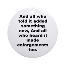 Alexander pope Ornament (Round)