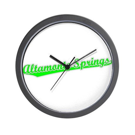 Retro Altamonte Sp.. (Green) Wall Clock