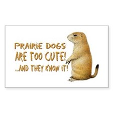Prairie Dog Rectangle Decal