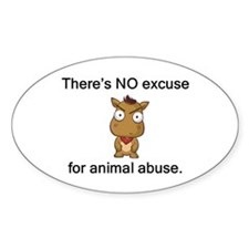 No Excuse Oval Decal
