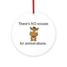 No Excuse Ornament (Round)