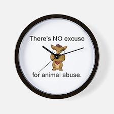 No Excuse Wall Clock