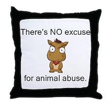 No Excuse Throw Pillow