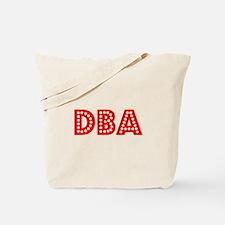 Retro DBA (Red) Tote Bag