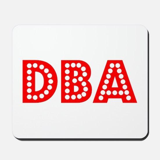 Retro DBA (Red) Mousepad