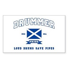 Drummer Rectangle Decal