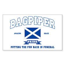 Bagpiper Rectangle Decal