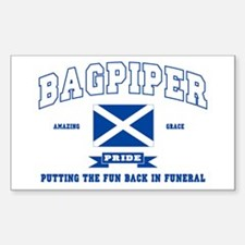Bagpiper Rectangle Decal