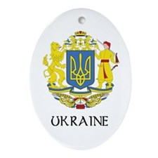 Ukraine Coat of Arms Oval Ornament