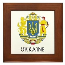 Ukraine Coat of Arms Framed Tile