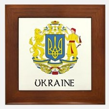 Ukraine Coat of Arms Framed Tile