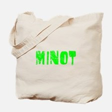 Minot Faded (Green) Tote Bag