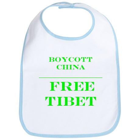 BOYCOTT CHINA-FREE TIBET Bib