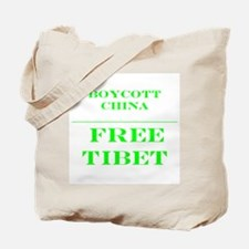 BOYCOTT CHINA-FREE TIBET Tote Bag