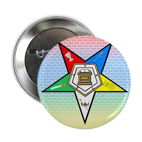"""Order of the Eastern Star 2.25"""" Button"""