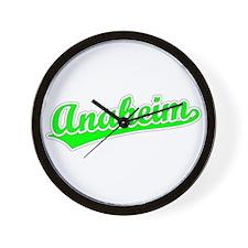 Retro Anaheim (Green) Wall Clock