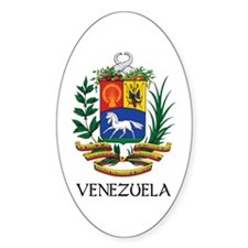 Venezuela Coat of Arms Oval Decal