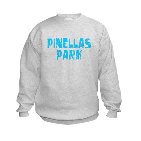 Pinellas Park Faded (Blue) Kids Sweatshirt