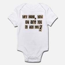 How old are you in dog years Infant Bodysuit
