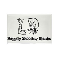 Happily Shooting Blanks Rectangle Magnet (10 pack)