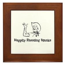 Happily Shooting Blanks Framed Tile