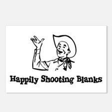Happily Shooting Blanks Postcards (Package of 8)