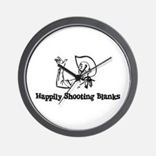 Happily Shooting Blanks Wall Clock