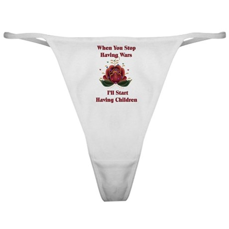 Child-Free Pacifist Classic Thong