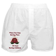 Child-Free Pacifist Boxer Shorts