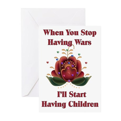 Child-Free Pacifist Greeting Cards (Pk of 10)