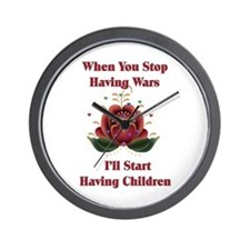 Child-Free Pacifist Wall Clock