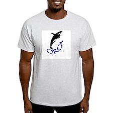 Orca Whale Ash Grey T-Shirt