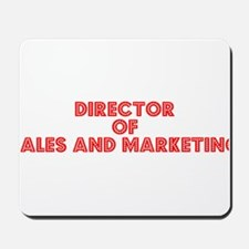 Retro Director of.. (Red) Mousepad