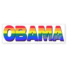 Gays 4 Obama Bumper Bumper Sticker